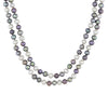 "Dark Multicolored 64"" Freshwater Pearl Necklace"