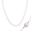 Fancy Pearl Inlay Silver Necklace