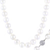 Radiant Large Clasp White Pearl Necklace