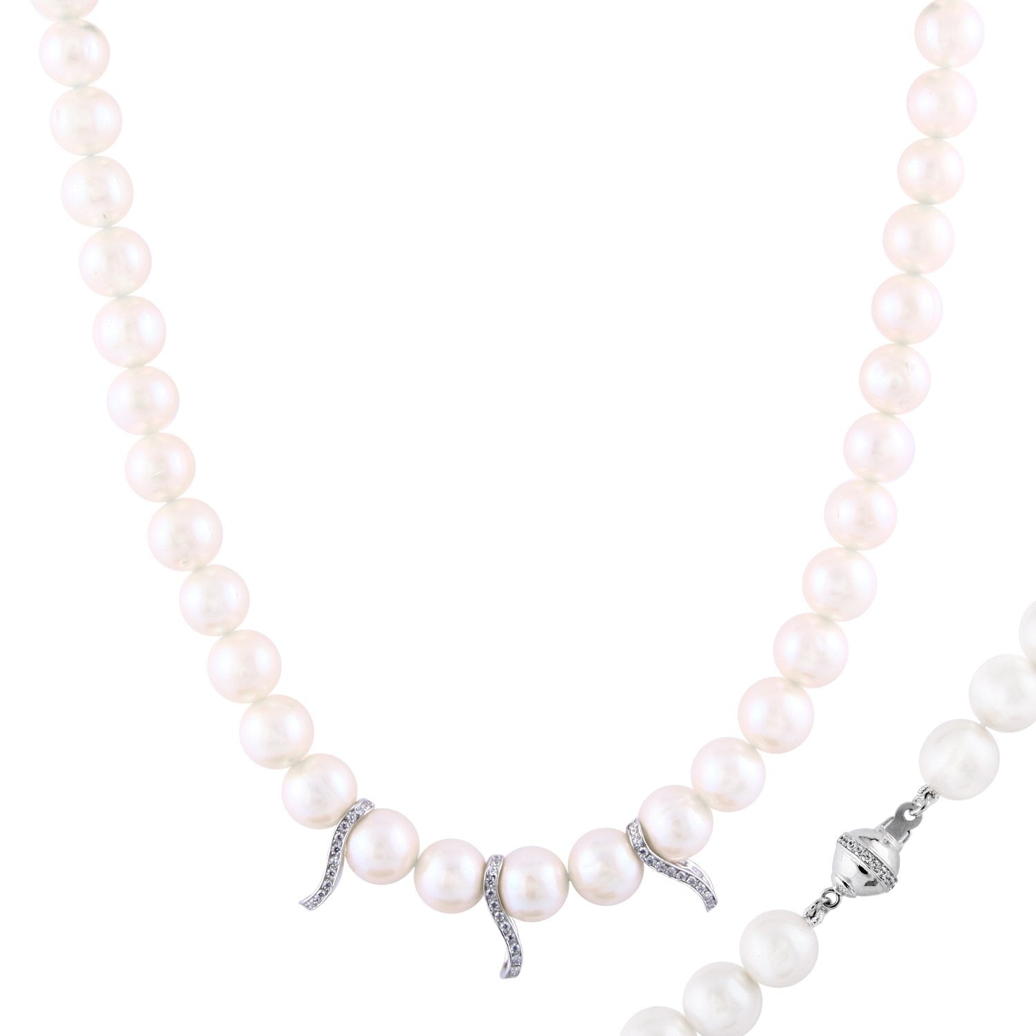 Multifashion White Pearl Necklace