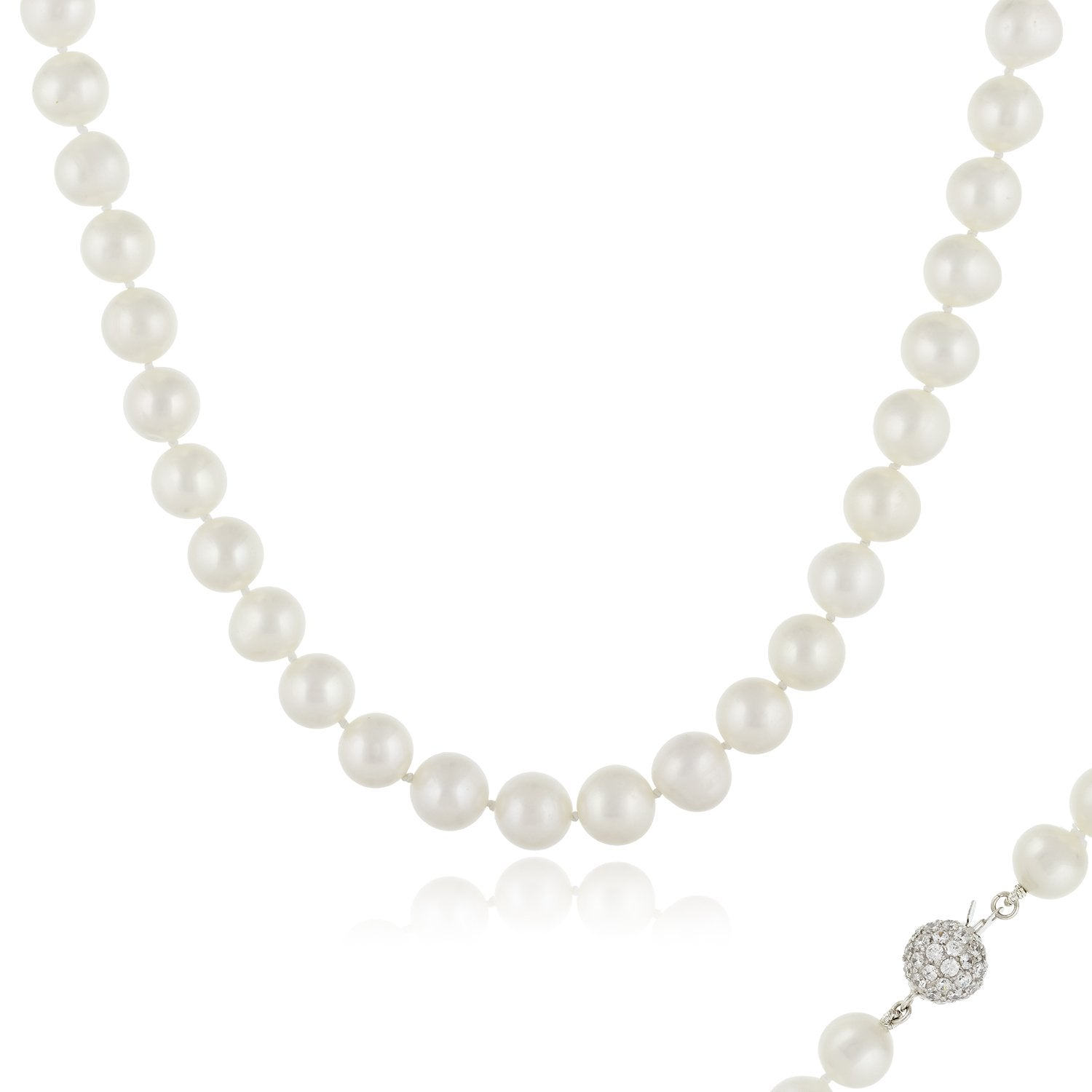 Delicate White Fancy Pearl Necklace