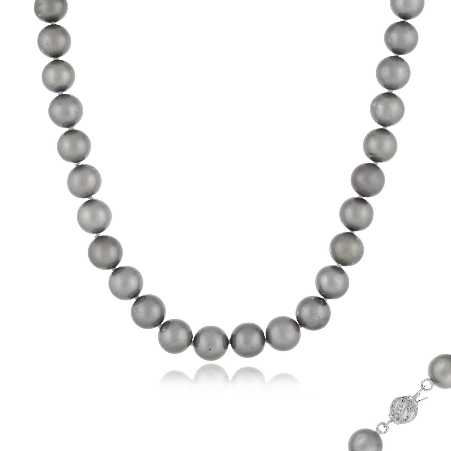 Delicate Gray Pearl Necklace