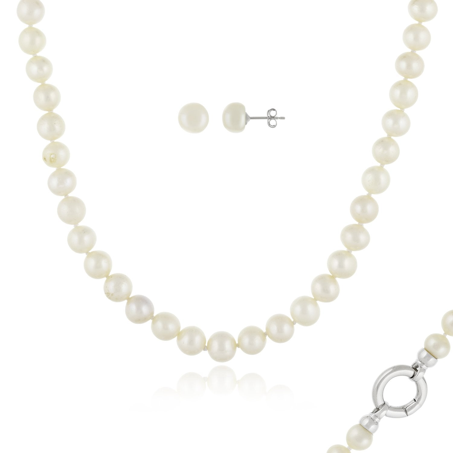 Magnificent 2 Pierce Pearl Necklace Set