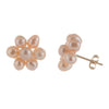 Hand Made Flower Pearl Stud Earrings