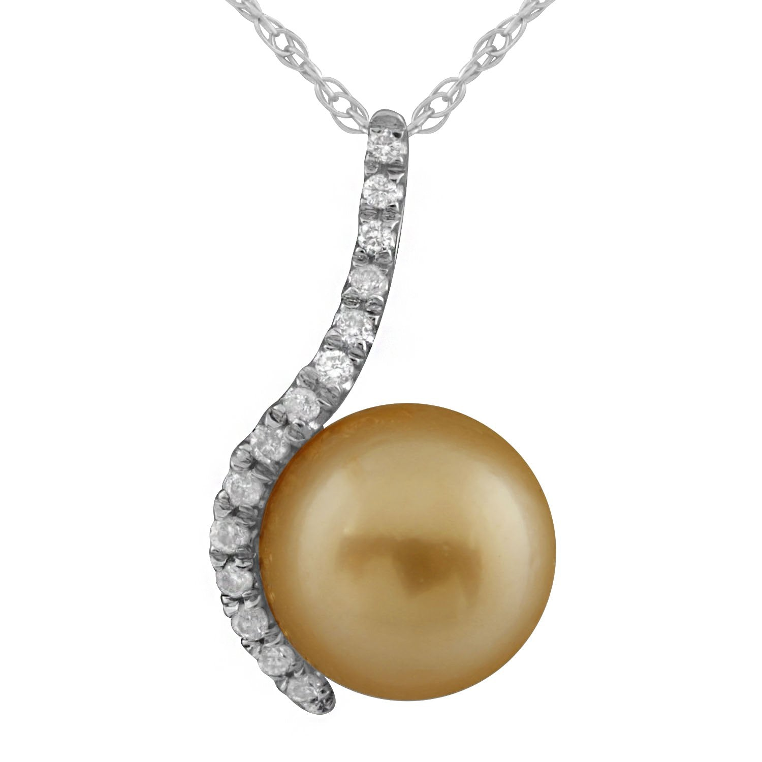 Golden South Sea Diamond Pendant