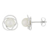 Loveknot Akoya Pearl Stud Earrings