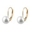 Dangling Leverback Freshwater Pearl Earrings