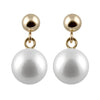 Dangling Ball Freshwater Pearl Earrings