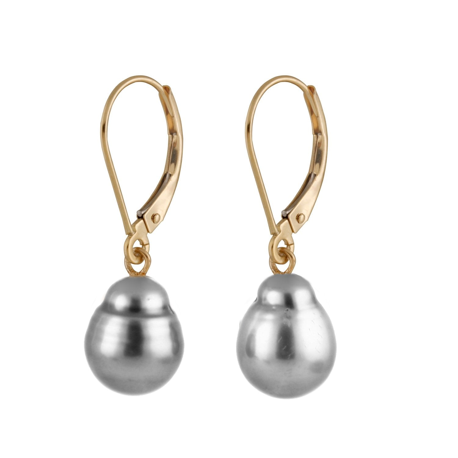 Tahitian Pearl Leverback Earrings