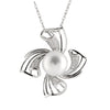 Flower Shaped Fancy Cubic Pearl Pendant