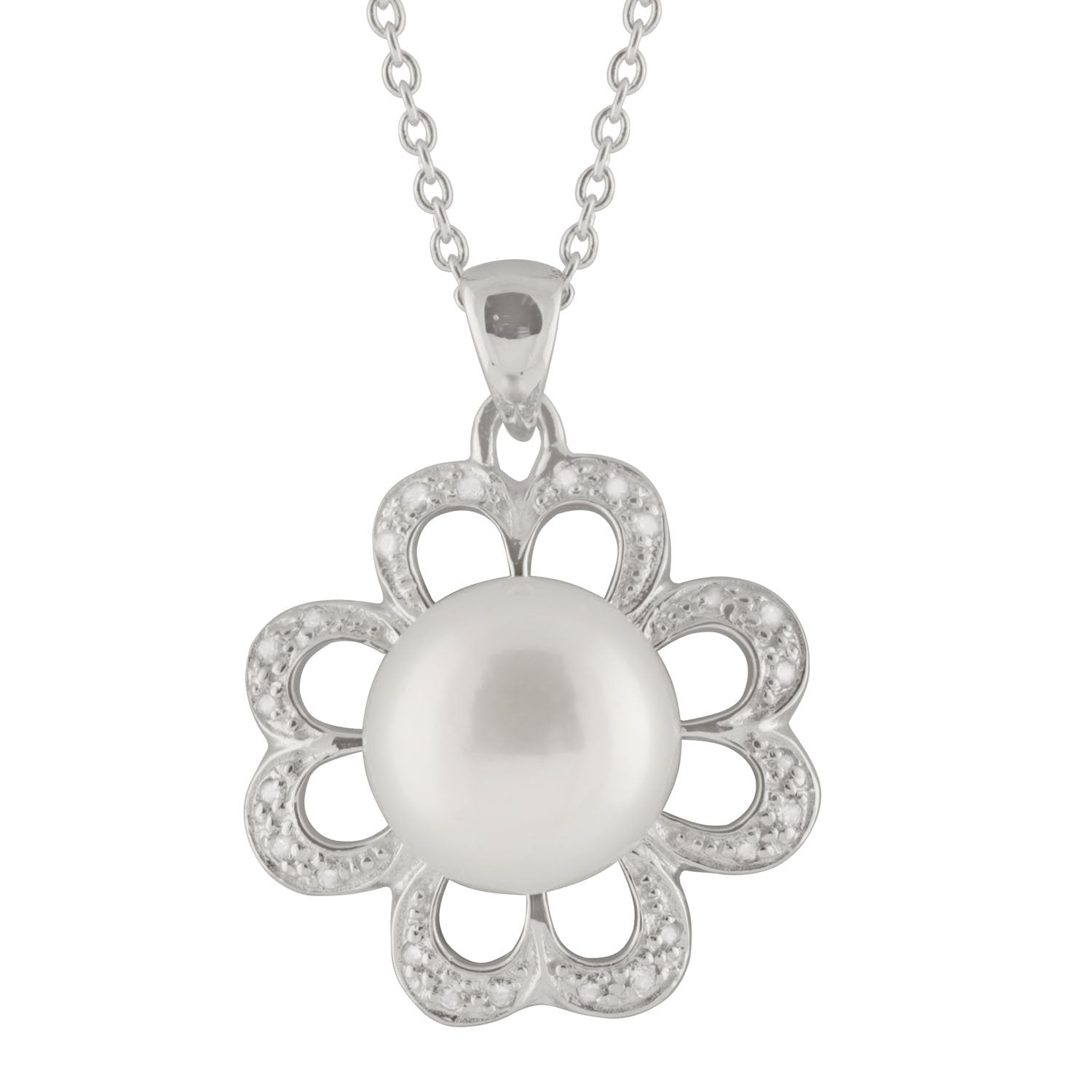 4 Leaf Clover Pearl Pendant