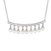 Dangling Silver Centerpiece Necklace