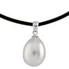 Rubber Pearl Pendant Necklace