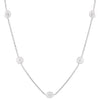 Beautiful Baroque Pearl Station Necklace