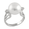 Cubic Accented White Pearl Ring