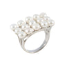 Multi Pearl White Ring