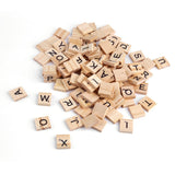 Wooden Alphabet Scrabble Tiles