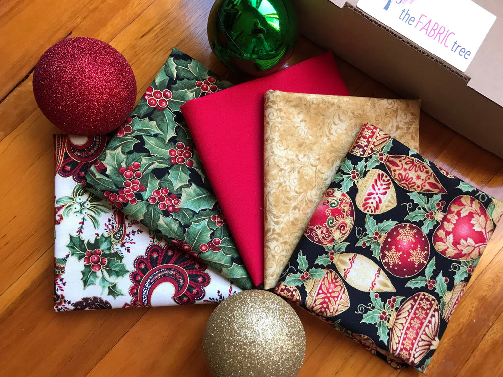 Christmas One-Time Fat 1/4 Fabric Box $29.95
