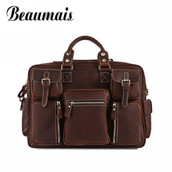 #M-003-The 100% First Layer of Cow Leather Men Briefcase