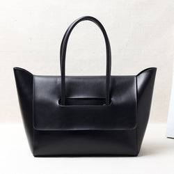 W-060-Genuine Leather Women's Tote Bag Soft Leather Handle Bags