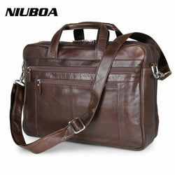 "#M-011-100% Genuine Leather High Quality Briefcase 17""Laptop Bag"
