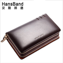 #M-018-Genuine Leather Fashion Casual Long Business Male Clutch Wallets