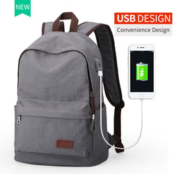#M-020-Canvas Backpack College Student Bags for Teenagers