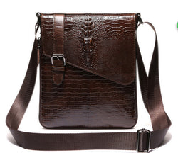 #M-021-Leather Men's Bags The First Layer Cowhide Single Shoulder Bag