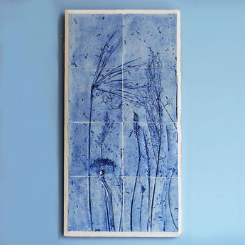 Porcelain tiles - Long Grasses, cobalt blue