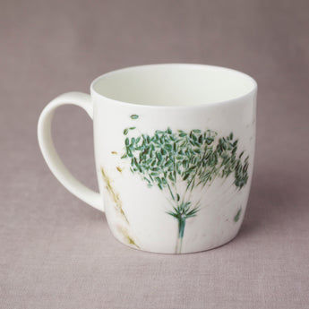Curved 'Green Grasses' Mug
