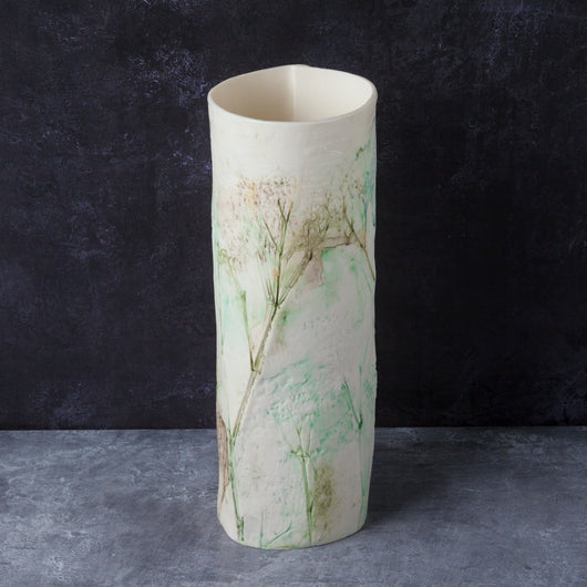 'Wild Flowers' tall tealight - vase