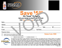 TOZAL Rebate Coupon - VOID
