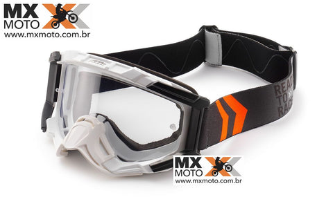 Óculos Original KTM RACING Branco, Lente Transparente- 3PW1628200