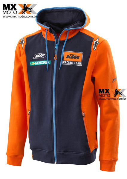 Casaco Casual Moleton ORIGINAL KTM Replica Team Zip Hoodie - 3PW185400X