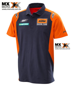 Camisa Casual Polo KTM ORIGINAL 2018 Modelo - KTM Replica Team Polo Alpinestars - 3PW185700X
