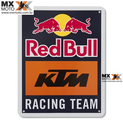 Placa de Metal Decorativa Original KTM RedBull Racing Team - 3RB190004100