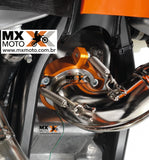 Protetor da Flange do Escape ORIGINAL KTM 2T 250/300 2017 A 2019 Laranja - 55437994044