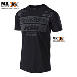 Camisa Casual KTM/TLD ( TROY LEE DESIGNS ) 2018 TEAM PRETA