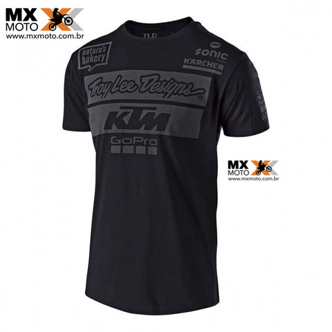 Camisa Casual Original KTM/TLD ( TROY LEE DESIGNS ) 2018 TEAM PRETA