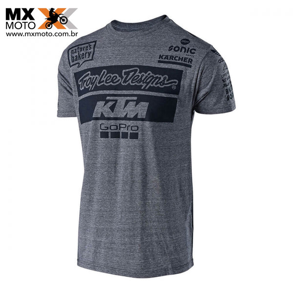 Camisa Casual KTM/TLD ( TROY LEE DESIGNS ) 2018 TEAM CINZA