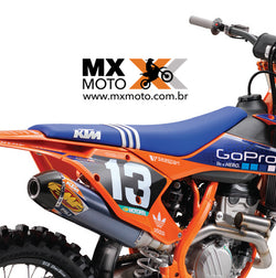 Capa de Banco ORIGINAL KTM / ADIDAS Troy Lee 2017 factory Edition Azul  - 79007040250