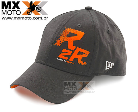 Boné KTM Racing ORIGINAL Preto R2R - Ready to Race ( Aba Arredondada ) - UPW1871500