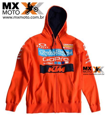 Casaco Casual ORIGINAL KTM / TLD Troy Lee Designs Moleton Modelo Factory Zip Hoodie - UPW165430X