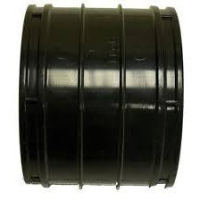 Black Solvent Weld Straight Connector