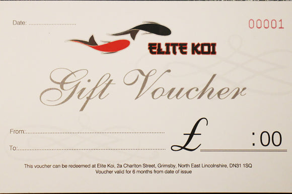 Koi Carp For Sale - Gift Voucher - Garden Ponds - Christmas - Birthday