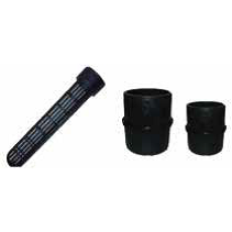 "Male - Male Joiners & ""Dildo"" Strainer Black Solvent Weld"