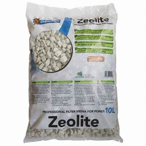 Zeolite absorbs the ammonia in your Koi Pond