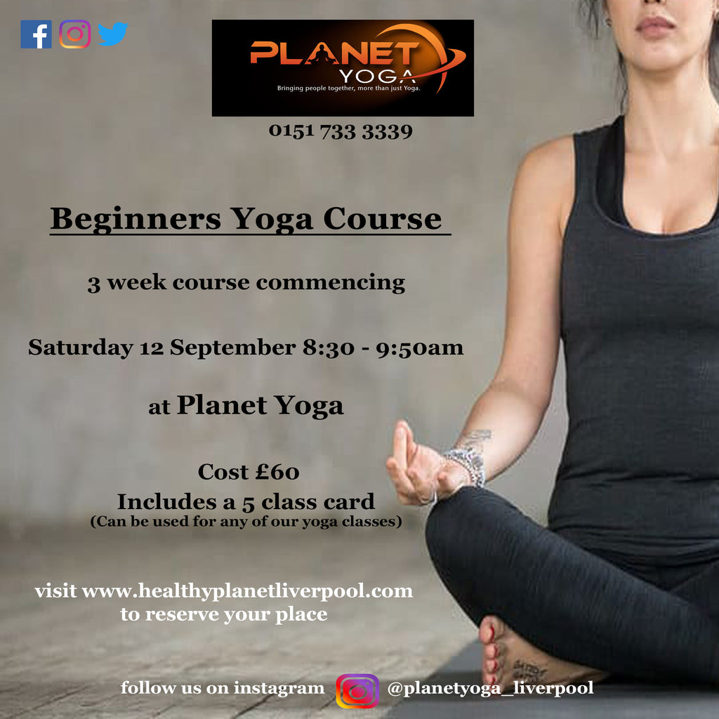 Beginners Yoga Course -  Starts Sat 12th Sept 2020