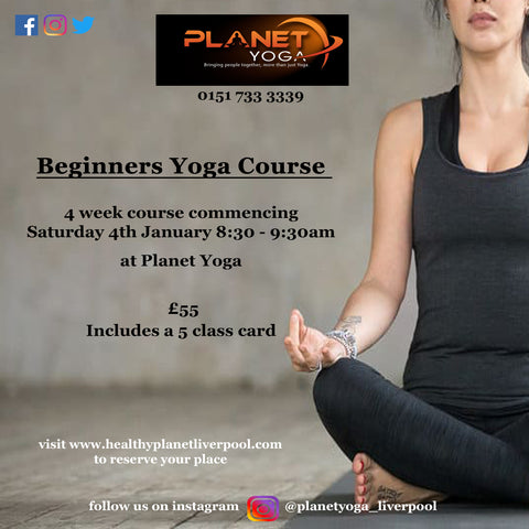 Beginners Yoga Course -  Starts Sat 4th Jan 2020