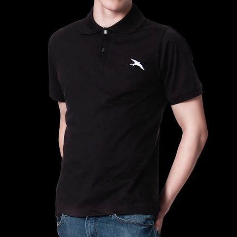 'Freedom Run' Logo Black Polo Shirt